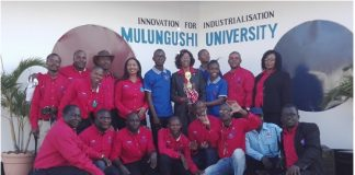 Mulungushi University won the first prize as the best training service provider at he just ended Zambia International Trade Fair (ZITF)